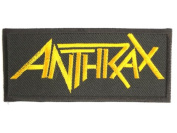 """ANTHRAX Gold Logo Metal Band Iron On Sew On Embroidered Patch 3.9""""/10cm x 1.7""""/4.5cm By MNC Shop"""