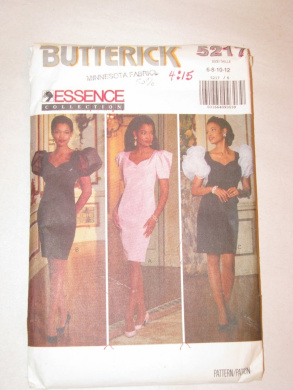 Butterick Pattern #5217 SIZE: 6-8-10-12 ***MISSES'/MISSES' PETITE DRESS***