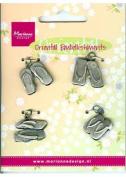 Ecstasy Crafts Oriental Embellishments -Sandals