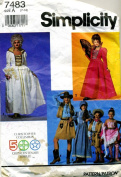 Simplicity 7483 Girls Historical Costumes