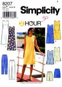 Simplicity 8207 Womens Dress Tunic Pants Shorts Size 12 - 14 - 16