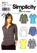 Simplicity 9411 Sewing Pattern Misses Full Figure Relaxed Fit Tops Size 14 - 20