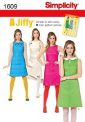 SIMPLICITY 1609 / 0259 *JIFFY* SIMPLE TO SEW MISSES DRESS [14, 16, 18, 20, 22] SEWING PATTERN