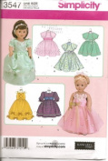Simplicity 46cm Doll Clothes Pattern 3547 for Dresses,and Princess Style Gowns for American Girl Sized Dolls Like Samantha, Nellie, Felicity, Elizabeth, Addy, Kirsten or for Any Dolls Special Ocassion!