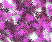 8mm SPOKE SEQUINS Fuchsia Loose sequins for embroidery, applique, arts, crafts, and embellishment.