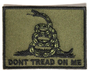 Don't Tread on Me Gadsden Flag Black over Army Green Patch