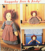 OOP McCall's Craft Pattern 8708. Raggedy Ann & Andy Draftbusters & Doorstop. Dolls