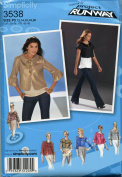 Simplicity Pattern 3538 Project Runway Misses' Jacket in Two Lengths with Yoke, Collar and Sleeve Variations, Size P5 12-20