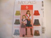 McCall's Girl's Skirt Pattern M5169 3-4-5-6
