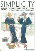 Simplicity 9360 Sewing Pattern 60th Anniversary Misses Town Dress & Capelet Size 6 - 12 - Bust 30 1/2 - 34