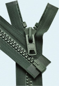90cm Vislon Zipper ~ YKK #10 Moulded Extra-Heavy Separating - 890 Dark Green