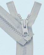 90cm Vislon Zipper ~ YKK #10 Moulded Extra-Heavy Separating - 119 Lite Grey