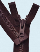 90cm Vislon Zipper ~ YKK #10 Moulded Extra-Heavy Separating - 864 Wine
