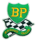 BP RACING CLUB Petroleum Gas Stations Symbol t Shirts GB01 Patches