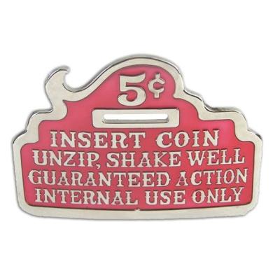 Insert Coin Red Beer Bottle Opener Funny Unique Metal Belt Buckle