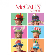 McCall Pattern Company M6858 Event Hats Sewing Template, All Sizes