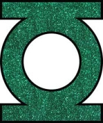 Green Lantern Logo Comics Glitter Sticker