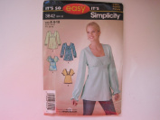 It's so Easy It's Simplicity Sewing Pattern 3842 Misses' Bias Pullover Tunics or Tops Size
