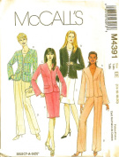 McCall's 4391 Misses/miss Petite Lined Jacket, Pants and Skirt Sewing Pattern Size 8 to 14