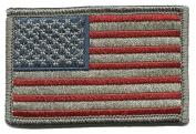 Tactical USA Flag Patch - Subdued Silver USA
