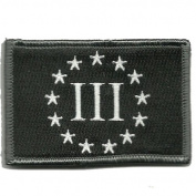 5.1cm x 7.6cm Emblem Three Percenter Tactical - Black
