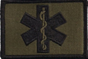 EMT Star Of Life Tactical Patch - Olive Drab