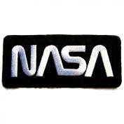NASA Badge Iron on Patches #Black