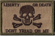 Liberty Or Death Skull & Bones Tactical Patch - Multitan