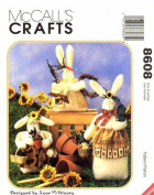 McCall's 8608 Crafts Sewing Pattern Stuffed Bunny Bunnies