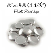 Cover Buttons - 2.9cm (SIZE 45) - FLAT BACKS - QTY 25