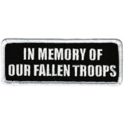 IN MEMORY OF OUR FALLEN TROOPS Vet Military Biker Patch