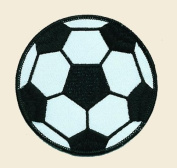 Soccer Ball Logo Embroidered Iron on or Sew on Patch