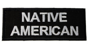 Native American Iron on Embroidered Patch D44