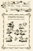 Delightful Donkeys Hot Iron Embroidery Transfers
