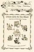 Chore Girls for Days-of-the-week Tea Towels Hot Iron Embroidery Transfers