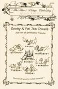 Scotty Dog & Playful Kitten Tea Towels Hot Iron Embroidery Transfers