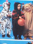 1993 Simplicity Halloween Costume Sewing Pattern 8582. Baby/Toddler/Children's Sizes 1/2; 1; 2; 3; 4 Bunny/rabbit; Cow; Ladybug; Lion; Pumpkin; etc Costumes