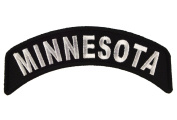 Minnesota State Rocker Iron or Sew on Embroidered Shoulder Patch D37