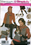 Simplicity Pattern Misses' and Dog Accessories 4749