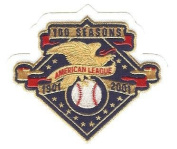 2001 American League MLB Baseball 100th Anniversary Patch