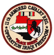 11th Armoured Cavalry Operation Iraqi Freedom Patch