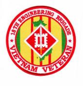 18th Engineering Brigade Vietnam Veteran Patch