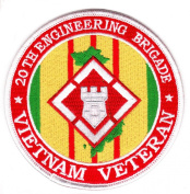 20th Engineering Brigade Vietnam Veteran Patch