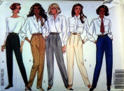 Butterick 6420 UNCUT Misses or Misses Petite Fast & Easy Pull-on Pants from 1990s Size 18, 20, 22
