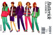 Butterick Pattern 3081 ~ Women's Jacket, Vest, Skirt and Pants ~ Size 6-14