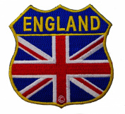 England Flag Badge shape Iron on Embroidered Patch D34