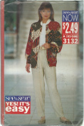 See & Sew 3132A Sewing Pattern Misses Jacket & Pants Size XS-M 6-14