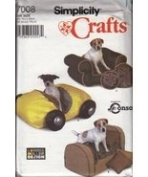 Simplicity 4780A Sewing Pattern Misses/Dog Accessories Size All