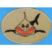 Trident Sharky Smiling Shark Tooth Patch