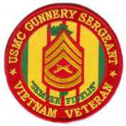 USMC Gunnery Sergeant Vietnam Veteran Patch